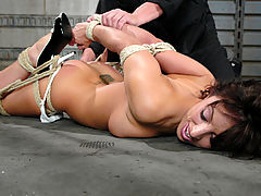 Sensitive Nipples, Fiery, sexy brunette gets bound and disciplined with water torture