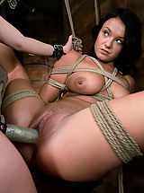 Fetish Nippels, Girl in first time bondage and domination.