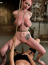 Naked Fetish, Berlin gets her giant tits shocked and bound