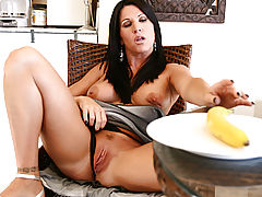 Puffy Nipples, Anilos kendra secrets reaches for banana to shove in her pussy!