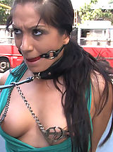 Kink Nippels, Romanian super slut Lea Lexus gets tied up and fucked in public!