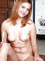 [Spintax1], Lovely cutie with round tits exposing her perfect naked body in the kitchen