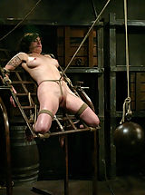 Fetish Nippels, Stacey discovers a harsh crotch rope for the first time.