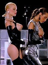 Suze Randall Nippels, Alicyn Sterling and Mona in one of Suze's finest Classic Fetish shoots.