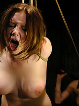 Very large Nipples, Nineteen year old Sara is put in tight bondage and electrocuted