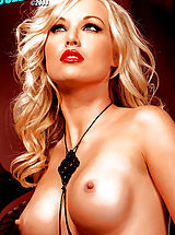 Naked Nipples, Kayden Kross in the sexiest Photo shoot ever! Red lips & black stockings, mmmmm!