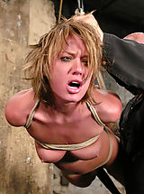 Fetish Nippels, Sexy tan Holly Wellin is tied up tight and forced to cum, tickled