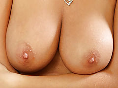 Areola Nipple, Big breasted Nubile shows off her tits and tortures her pussy with a dildo