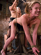 Fetish Pics: Two hot doms gang up on Jade Marx and force her to cum with electricity!!!