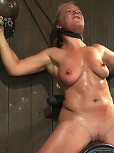 Puffy Nipples, Dia Zerva and Ariel X on sybians with severe nipple bondage. Bondage sluts are flogged heavy and whipped hard. Nipples cinched tight during orgasms.