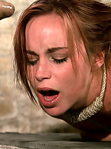 naked woman, Hot Bella double teamed and made to slurp her own squirt