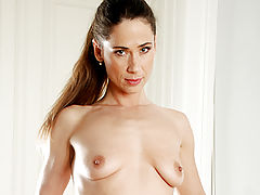 Sensitive Nipples, After exercising sensual milf pepper plays with her excited pussy