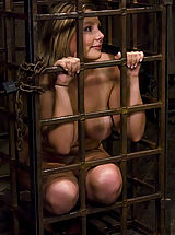 Naked Fetish, Lorelei Lee is put in predicament bondage device
