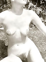 Vintage Pics: Beautiful Hirsute Girls with a Focus on Hairy Pussy & Armpits Leg Spreading & Tit Squeezing - Vintage Pornography