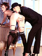 Lesbians Pics: Bonus Gallery! Ander Page makes Justine Joli her slave in this sexy fetish shoot!