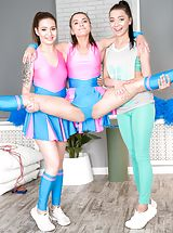 Evelina Darling, Shelley Bliss, Emely Bender in lesbian, onanism, threesome, teen, babes, redhead, brunette, toys, uniform, natural tits, petite, little tits