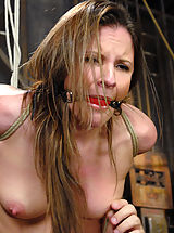 Fetish Nippels, Cute sexy Hogtied.com member has her first bondage shoot