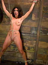 Fetish Pics: Petite, brunette MILF bound, punished and force to cum!