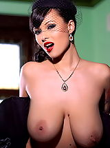 Sexy Nipples, Domino in Natural Huge Melons in Corset Vintage Look