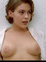 naked girls, Alyssa Milano