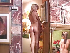 latina ass, Alison Angel gets naked with the art