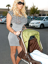 naked lesbian, Kelly brings home Britney and Ryan doesn't know if to freak out or fuck, he figures it out and fucks them on the baby stroller.