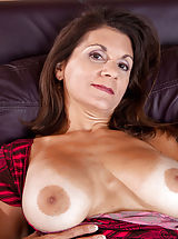 [Spintax1], Classy Anilos lady pleasures her mature pussy with a purple vibrator