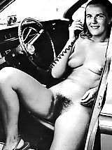 naked babe, Old and Funny Vintage 50s and 60s Photos Of Naturist Girls Exposing their Hairy Pussies at Nude Camps and Resorts