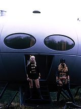 Vintage Nippels, Amazing retro spacecraft threesome sex story