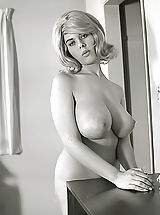 naked 18, Exclusive Vintage Erotica Photos of a Big Busty Porn Queen of 1960s Owner of Enormous Pair of Fucking Breasts