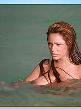 Why do girls nipples get hard, Kelly's nude human body features not checked much better than it does underwater!