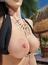 Big Nipples, Bare Sexy Adulteress 947 Breanne Benson shows those tremendous boobs