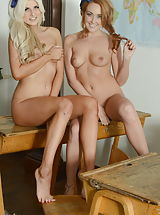 Courtney Tugwell and Lucy-Anne Brooks