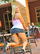 Upskirt Pics: Danielle gets naughty in public