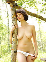 naked blonde, Rimma is feeling great posing nude in amazing outdoor