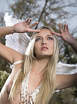 Naked True Beauty, Beautiful naked blonde with the wings