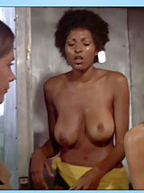 naked blonde, Pam Grier