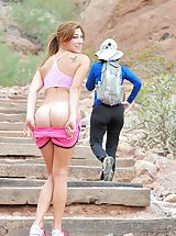 nice ass, Hannah the nude hiker