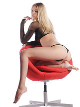 bubble butt, Aria strips out of her mesh panties and straddles your office chair. State hello for your brand new secretary!