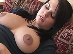 Hard Nipples, Julie fucks a big sex toy