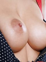 Vagina and Buttocks Adoration Image Set No. 1580 Veronica Leal peel down topless uncovers her tight Cunt