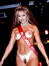 [Spintax1], 70's Photos of Miss Naked University of 1990 and the Hottest Naked Chicks with Trimmed Bushy Pussies Walking On Podium
