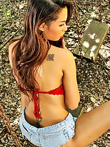naked chick, amara ranipas 03 thai forest tight jeans