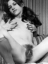 naked grils, Hairy Puffy Nippled Amateurs Pose In These Old Vintage Photos On Vintagecuties.Com