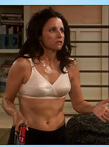 Why do girls nipples get hard, Julia Louis-Dreyfus sheds some epidermis on Seinfeld