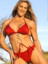 Sexy Bikini, Cynthia Daniels Red Suit and Chains