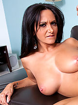 Milf Pics: Ava comes over to Clarkes house because she has been locked out, Clarke is there to lend her a helping cock!