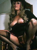 Retro, Amazing retro babe with big tits sucking cock