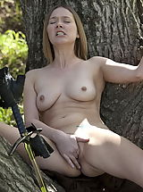 Retro Clothing, WoW nude star fingering pussy forest