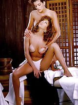 Suze Randall Nippels, Oily, lubed up lovelies slither against each other that creates fiery friction!